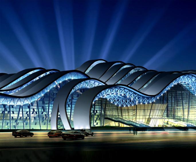 郴州国际会展中心公共建筑照明工程案例
