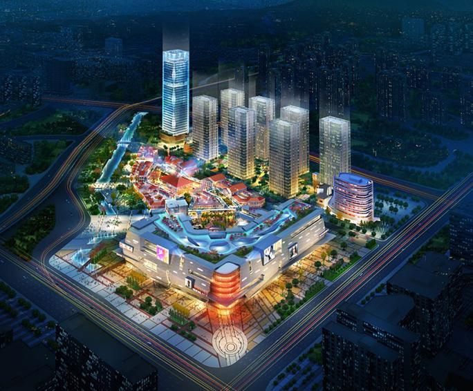 福州东二环泰禾广场四期酒店及办公楼泛光照明工程