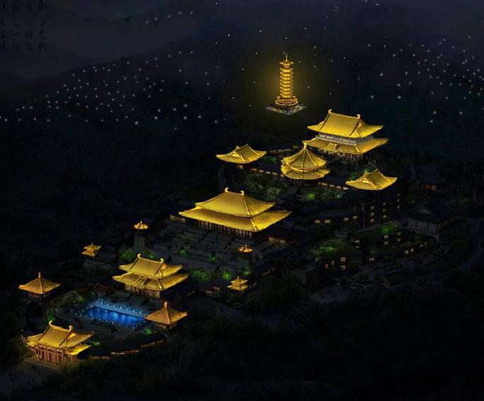 六祖禅院亮化工程设计