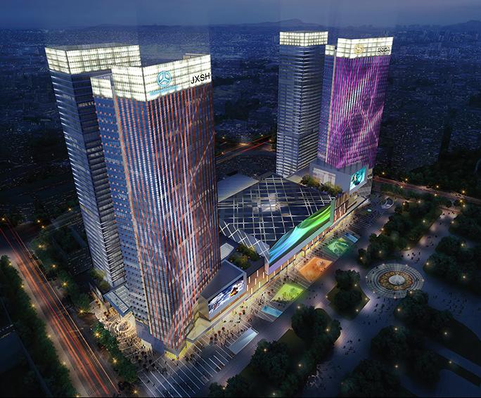 江西萍乡润达国际城市综合体亮化设计